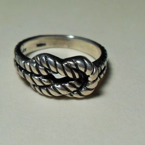 Sterling Silver Love Knot Ring, Southwestern